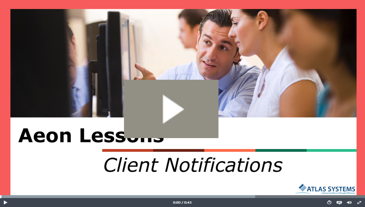 Client Notifications Video