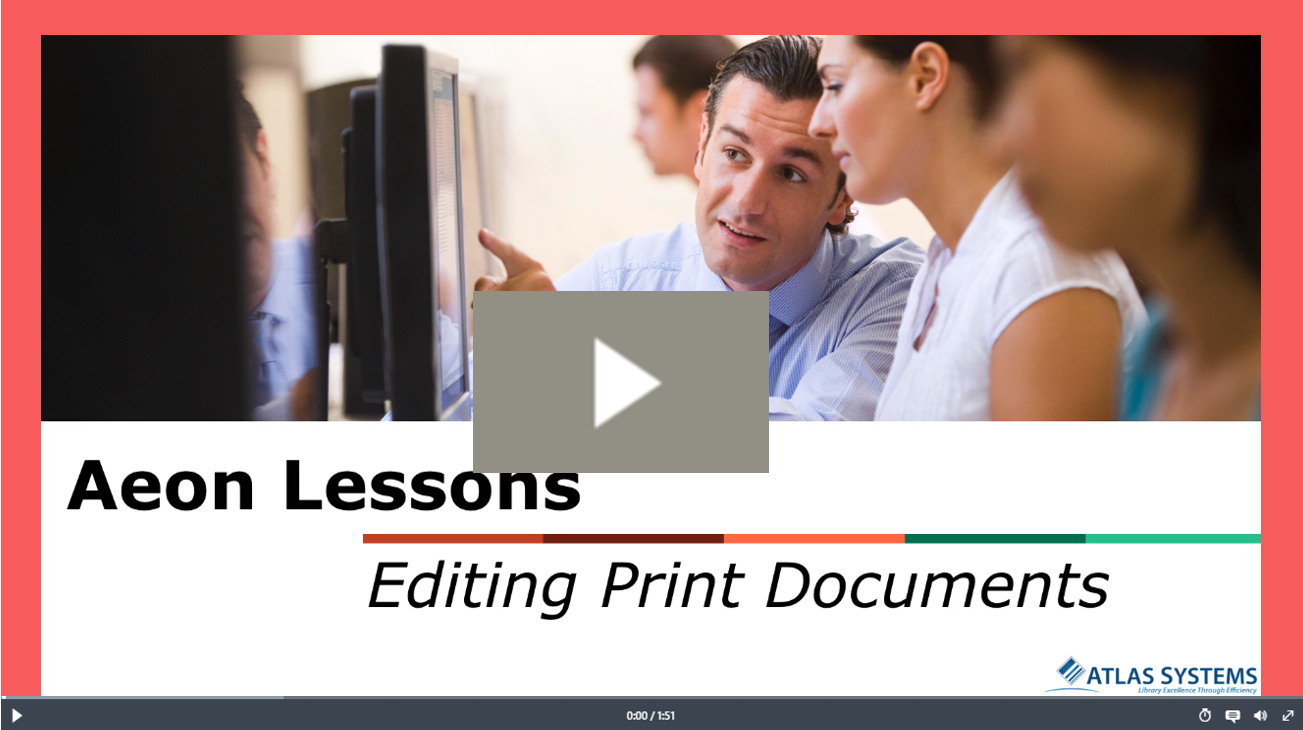 Editing Print Documents Video