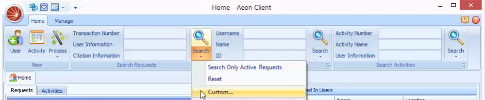 Conducting Custom Searches – Atlas Systems